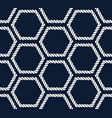 seamless nautical rope pattern with hexagon shapes vector image vector image
