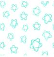 Seamless pattern - hand drawn azure stars vector image vector image