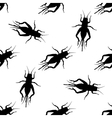 Seamless pattern with cricket or grig Gryllus vector image vector image