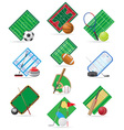 set icons sport vector image