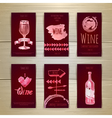 Set of art wine cards and labels design vector image vector image