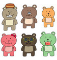 set of bear family vector image vector image