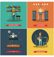 set of musical instruments concept posters vector image vector image