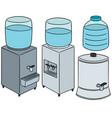 set of water cooler vector image