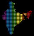 spectrum pixel lgbt india map vector image vector image
