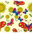 sunflower butterflies vector image
