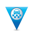 taxi symbol map pointer blue vector image vector image