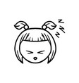 thin line sleppy face icon vector image vector image