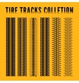 Tire track collection vector image