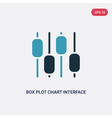 two color box plot chart interface icon from user vector image vector image