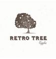 Vintage apple tree vector image