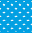 virtual cube pattern seamless blue vector image vector image