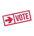 Vote stamp rubber grunge vector image vector image