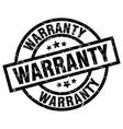 warranty round grunge black stamp vector image vector image