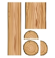 Wood texture and parts vector image vector image
