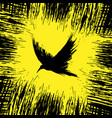 yellow raven background vector image