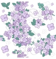 Seamless pattern of colorful purple flowers lilac vector image