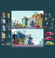 set cartoon of an urban large vector image