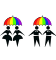 gay couples vector image