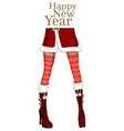 sexy female legs in the winter boots vector image