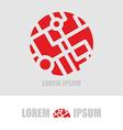 Logo ball segments Emblem business template for vector image