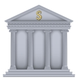 RomanGreek Temple bank symbol vector image