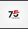 75 years anniversary black red elegant design