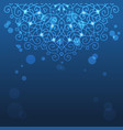 Abstract blue background with mandala ornament vector image vector image