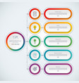 abstract infographic template with 5 options vector image