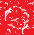 abstract pattern of bird on the red vector image