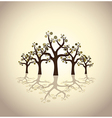 abstract trees with bubbles vector image vector image