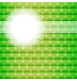 background with green triangles and circles vector image vector image