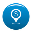 bank map pointer icon blue vector image vector image