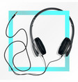 big earphones black vector image