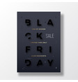 black friday stylish typography banner poster or vector image