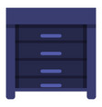 blue nightstand icon cartoon style vector image vector image