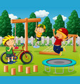 boys playing at playground vector image