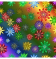 Bright colorful seamless with flowers vector image vector image