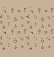brown coffee icon set pattern seamless design for vector image vector image