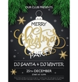 Christmas party poster with fir-tree
