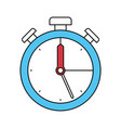 color sectors silhouette of stopwatch icon vector image vector image