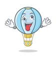 crazy air balloon character cartoon vector image