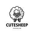 cute sheep cartoon logo icon vector image