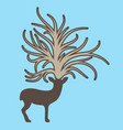 deer with big tree on the head vector image vector image