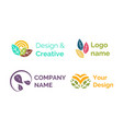 design creative logo name brand company icon vector image