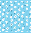 ditsy floral seamless pattern design vector image vector image