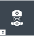 doctor related glyph icon vector image vector image