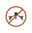 Drone Safety Sign Prohibit Air Fly Danger Zone vector image vector image