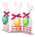easter decor in form silhouettes hares vector image vector image