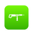 electric drill perforator icon digital green vector image